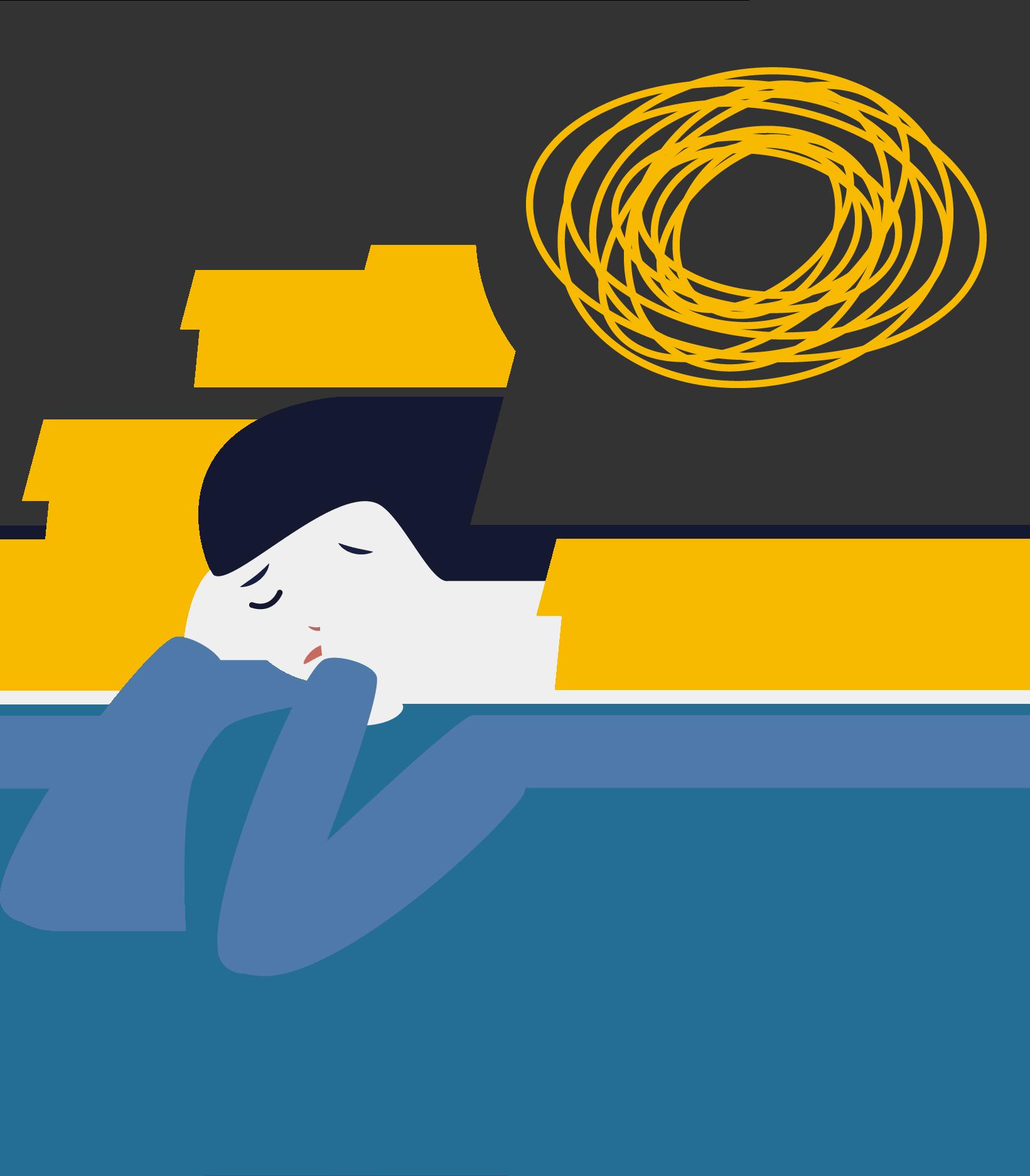 Ilustración de una persona llorando desconsoladamente porque se siente insegura.