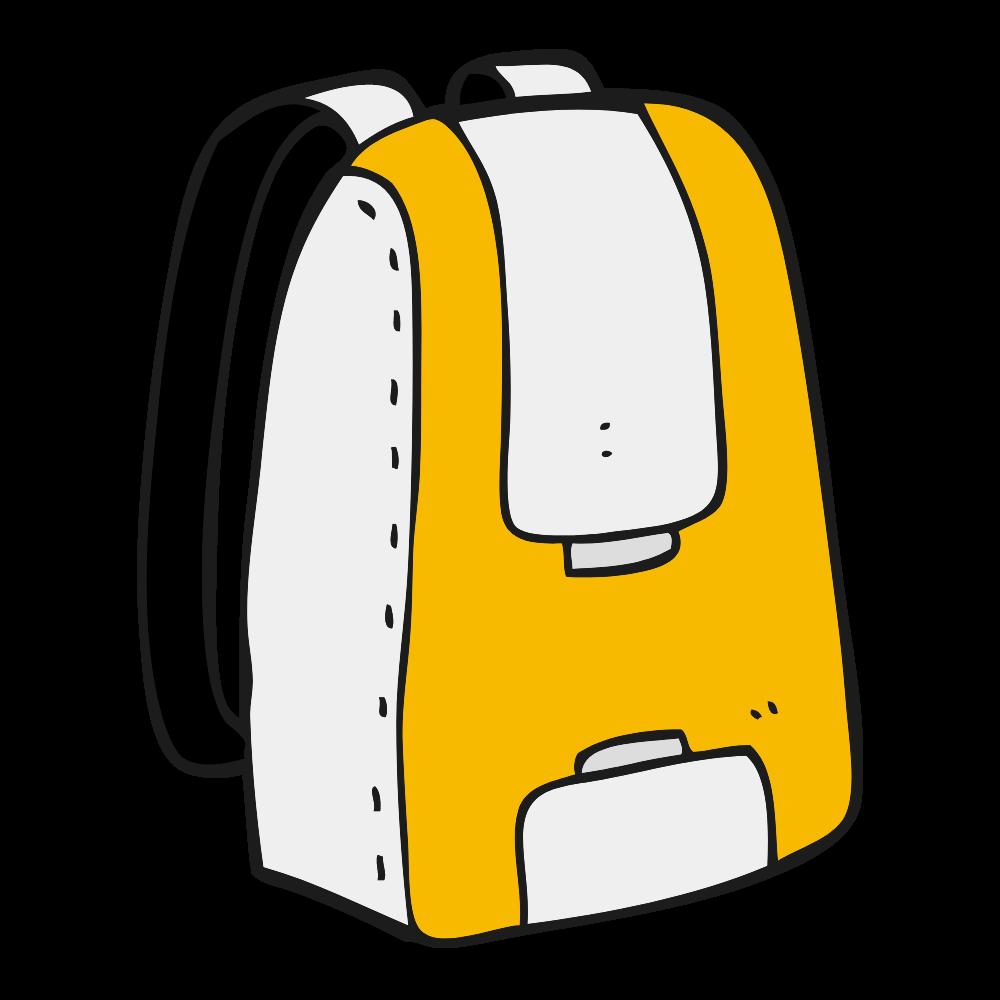 Ilustración de una mochila