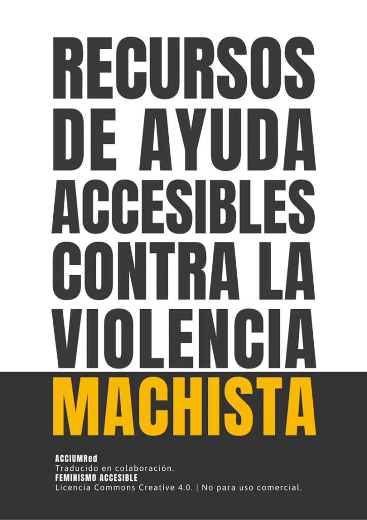 Recursos de ayuda accesibles contra la Violencia Machista